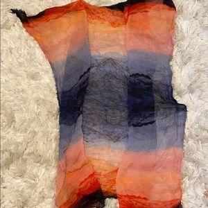 ANTHRO dip dye silk square scarf